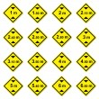 16 height limitation traffic sign — Stock Photo