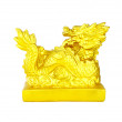 Golden Chinese Imperial Dragon on white background — Stock Photo