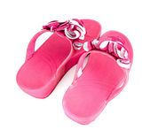 Pink slippers — Stock Photo