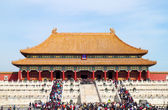 BEIJING, CHINA - OCTOBER 14: visit the famous Forbidden City on October 14, 2011 in Beijing, China. — Stok fotoğraf