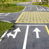 Small road and traffic markings — Stock Photo