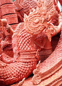 King of Naga carving candle festival — Stock Photo