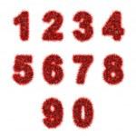 czerwony świecidełka cyfry na biały — Zdjęcie stockowe #26529089