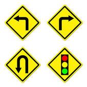 4 warning sign — Stock Photo
