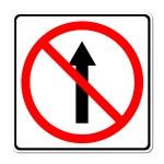 No ve el camino, no hay señal de avance — Foto de Stock