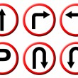 6 red circle traffic sign — Stock Photo