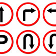 6 red circle traffic sign — Foto Stock