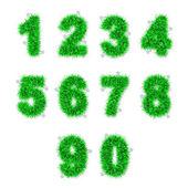 зеленый мишуры цифр с звездой на белом — Стоковое фото