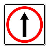 Go ahead the way ,forward sign — Stock Photo