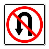 No return back road sign — Stock Photo