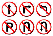 6 Do not do on red circle traffic sign — Stock Photo