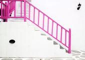 Pink Vintage stair — Stock Photo