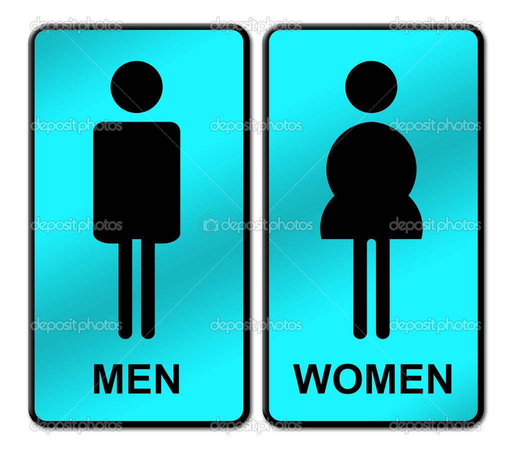 Imagen De Baño Hombre: – Letrero de baño hombre y mujer — Imagen de stock #26531103