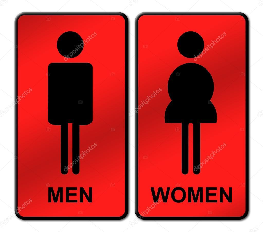 Imagen Baño De Hombres:Letrero de baño hombre y mujer — Foto de stock © geargodz