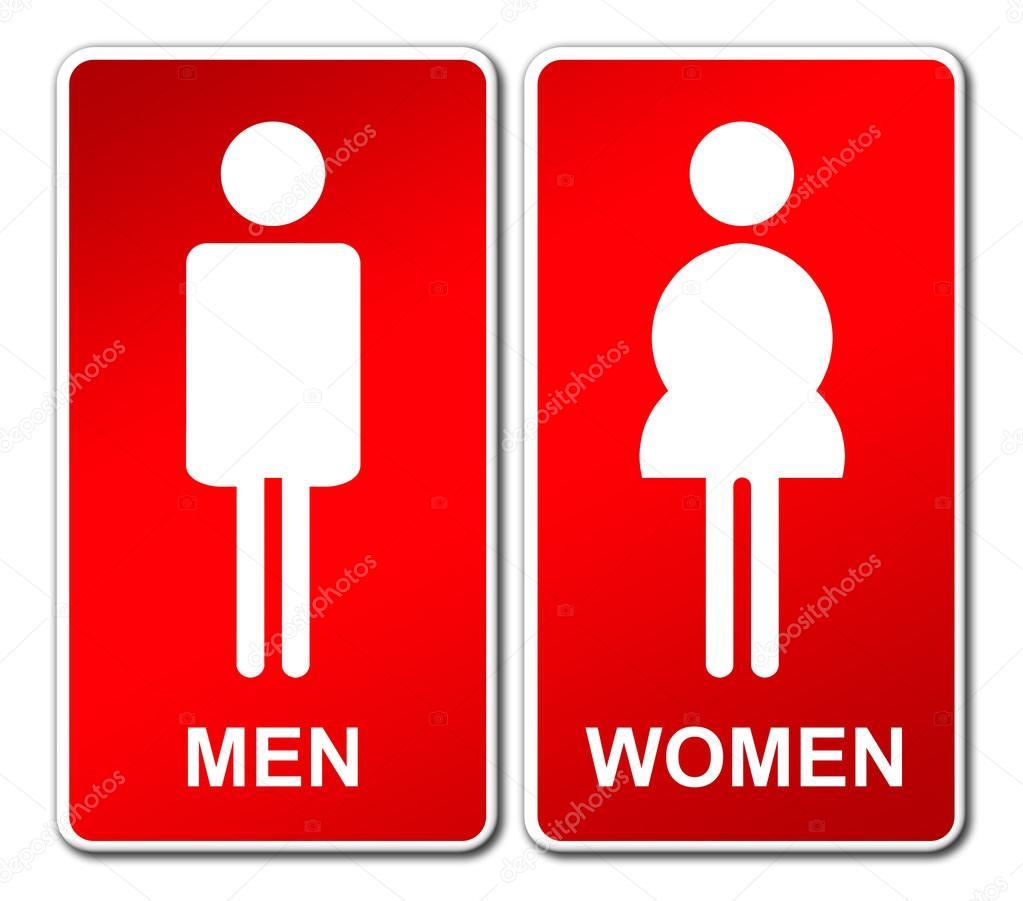 Imagen Baño De Mujeres:Letrero de baño hombre y mujer — Foto de stock © geargodz