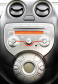 Control panel and cd in modern car — Stock Photo