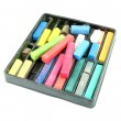 Multicolored artist's pastels (chalk) — Stock Photo