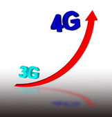 3G to 4G — Stock Photo