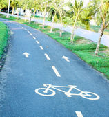 Sinuous bicycle path — Stock Photo