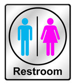 Restroom sing on white background — 图库照片