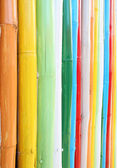 Colorful of bamboo wall texture — Stock Photo