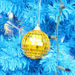 christmas ball decoration on the chrismas tree — Stock Photo