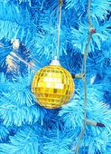 Christmas ball decoration on the chrismas tree — Stock Photo