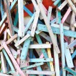 Colorful wooden stick — Stock Photo