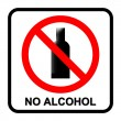 No alcohol sign — Stock Photo