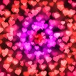 Light hearts bokeh as background — 图库照片 #26639449