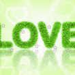 Text love with tinsel pattern — Stockfoto #26646581