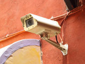 Security camera CCTV on wall — Stock Photo