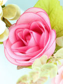 Fabric pink rose flower — 图库照片