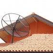 Stock Photo: Satellite dish on roof