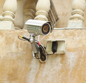 Security camera CCTV and box control — Stock Photo