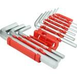 Hexagon kit tool or allen wrench set — Stock Photo #26743247