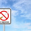 No smoking sign with cigarette — Stock Photo #26748767