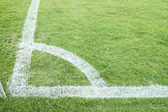 Football (soccer) field corner — Stock Photo