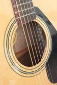Primer plano de guitarra acústica clásica — Foto de Stock