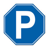 Hexagon parking sign — Stock Photo