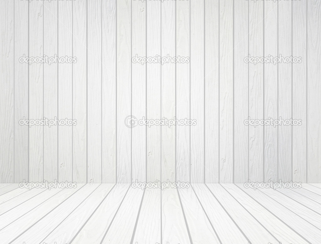 White wood wall and wood floor background — Stock Photo © geargodz #29151205