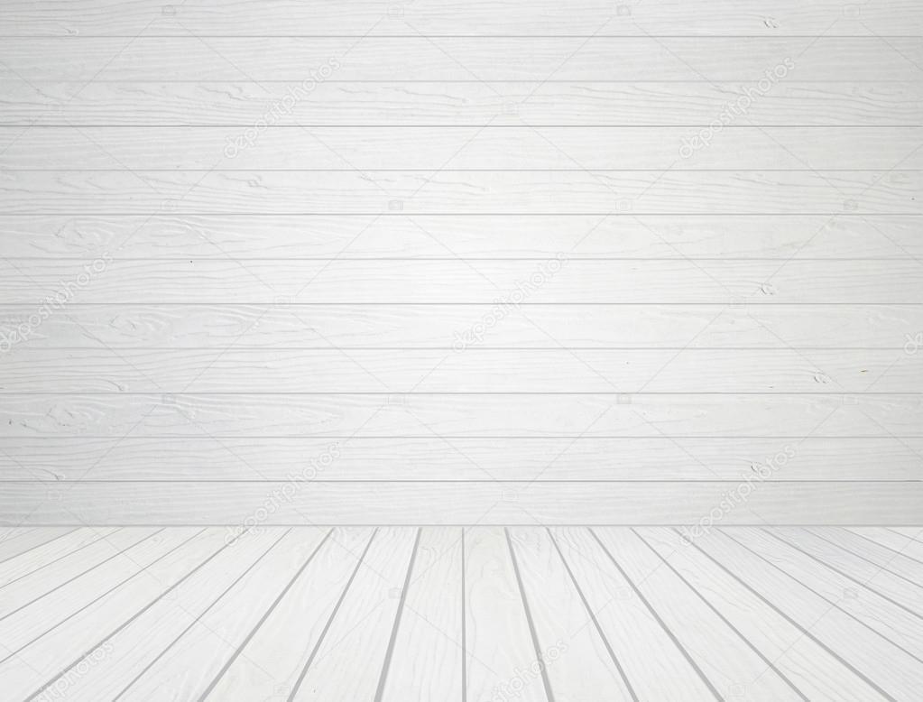 Madera blanco de la pared y el piso de madera fondo — Foto de stock © geargodz ...
