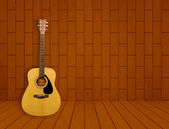 Guitar in room background — Stock Photo