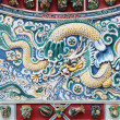 Chinese dragon texture on the wall, Thailand — Stock Photo