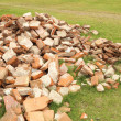 Pile of brick wall — Stock Photo