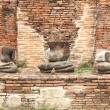 Stock Photo: Damage buddhstatue