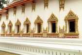Thai art windows in temple — Stock Photo