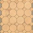 Brick octagonal walkway pavement texture — Stock Photo