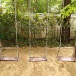 Swing set on the playground — Stock Photo #31143537