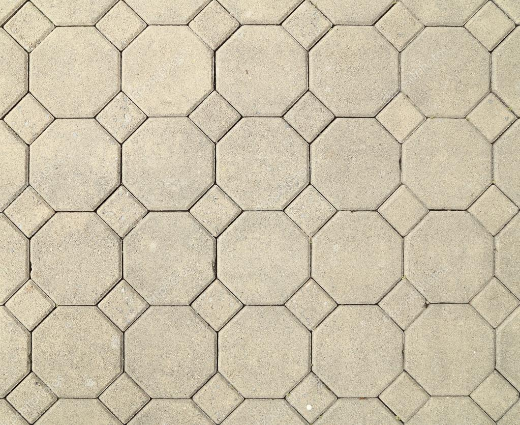 Brick Octagonal Walkway Pavement Texture Stock Photo